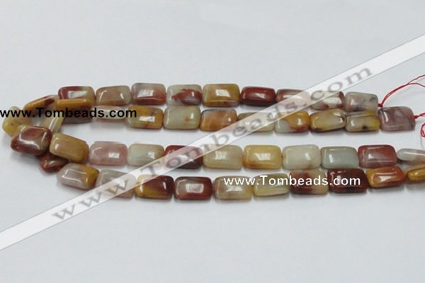 CRS21 15.5 inches 13*18mm rectangle rainbow stone beads wholesale