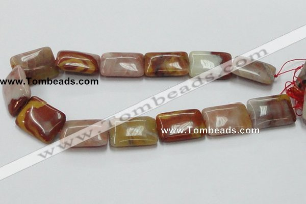 CRS22 15.5 inches 23*30mm rectangle rainbow stone beads wholesale