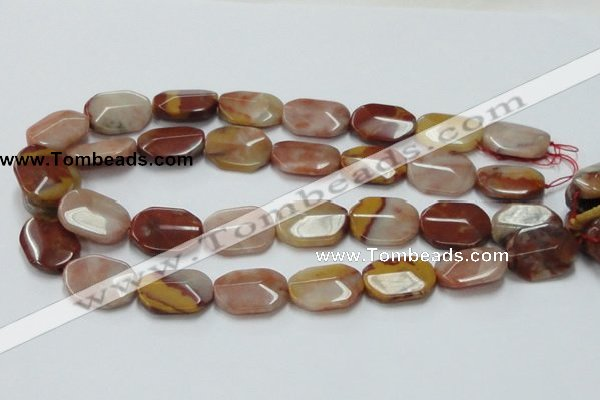 CRS23 15.5 inches 18*25mm faceted oval rainbow stone beads wholesale