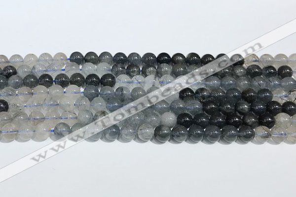 CRU1000 15.5 inches 6mm round mixed rutilated quartz beads