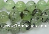 CRU101 15.5 inches 12mm round green rutilated quartz beads wholesale