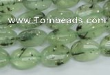 CRU102 15.5 inches 10*14mm oval green rutilated quartz beads