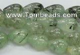 CRU105 15.5 inches 10*14mm teardrop green rutilated quartz beads