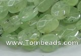 CRU118 15.5 inches 10*12mm faceted freeform green rutilated quartz beads