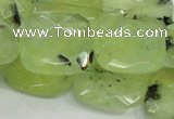 CRU121 15.5 inches 25*25mm faceted square green rutilated quartz beads
