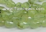 CRU124 15.5 inches 8*12mm faceted teardrop green rutilated quartz beads