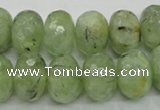 CRU143 15.5 inches 13*18mm faceted rondelle green rutilated quartz beads