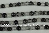 CRU301 15.5 inches 5mm round black rutilated quartz beads