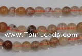 CRU452 15.5 inches 6mm round Multicolor rutilated quartz beads