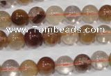 CRU454 15.5 inches 9mm round Multicolor rutilated quartz beads