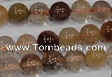 CRU455 15.5 inches 10mm round Multicolor rutilated quartz beads