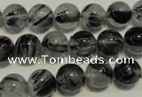 CRU503 15.5 inches 10mm round black rutilated quartz beads wholesale