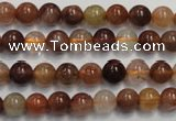 CRU651 15.5 inches 6mm round Multicolor rutilated quartz beads