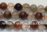 CRU653 15.5 inches 8mm round Multicolor rutilated quartz beads