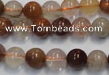 CRU654 15.5 inches 10mm round Multicolor rutilated quartz beads