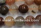 CRU655 15.5 inches 12mm round Multicolor rutilated quartz beads