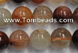 CRU656 15.5 inches 14mm round Multicolor rutilated quartz beads