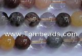 CRU751 15.5 inches 6mm round Multicolor rutilated quartz beads