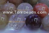 CRU755 15.5 inches 14mm round Multicolor rutilated quartz beads