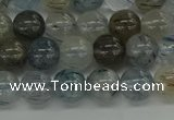 CRU852 15.5 inches 8mm round blue rutilated quartz beads
