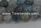 CRU853 15.5 inches 10mm round blue rutilated quartz beads