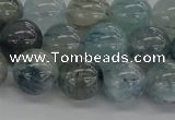 CRU854 15.5 inches 12mm round blue rutilated quartz beads