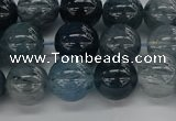 CRU861 15.5 inches 10mm round blue rutilated quartz beads