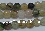 CRU901 15.5 inches 6mm round green rutilated quartz beads wholesale