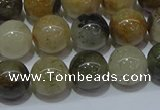 CRU903 15.5 inches 10mm round green rutilated quartz beads wholesale