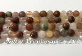 CRU913 15.5 inches 10mm faceted round mixed rutilated quartz beads