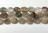 CRU924 15.5 inches 15*20mm oval mixed rutilated quartz beads wholesale