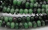 CRZ05 15.5 inches 4*6mm rondelle ruby zoisite gemstone beads Wholesale