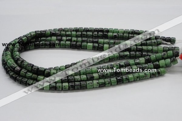 CRZ08 15.5 inches 8*6mm column ruby zoisite gemstone beads Wholesale
