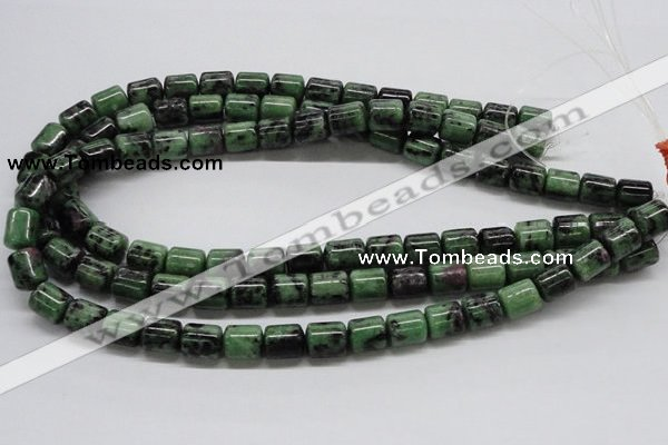 CRZ09 15.5 inches 10*12mm column ruby zoisite gemstone beads Wholesale