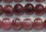 CRZ1005 15.5 inches 6mm - 6.5mm round A+ grade natural ruby beads