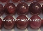 CRZ1009 15.5 inches 7mm - 7.5mm round AA grade natural ruby beads