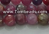 CRZ1123 15.5 inches 7mm faceted round natural ruby gemstone beads