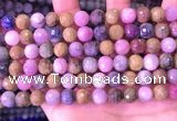 CRZ1142 15.5 inches 8mm faceted round ruby sapphire beads