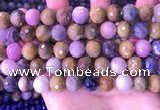 CRZ1144 15.5 inches 10mm faceted round ruby sapphire beads