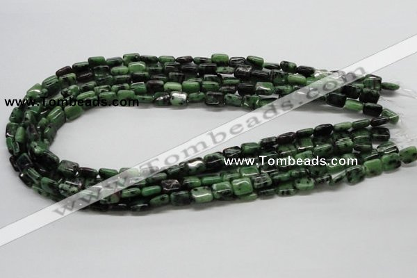 CRZ16 15.5 inches 8*10mm rectangle ruby zoisite gemstone beads