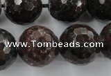CRZ208 15.5 inches 20mm faceted round ruby zoisite gemstone beads