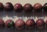CRZ404 15.5 inches 12mm round natural ruby gemstone beads