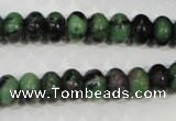CRZ462 15.5 inches 7*10mm rondelle ruby zoisite gemstone beads