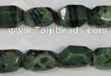 CRZ466 15.5 inches 12*18mm faceted nuggets ruby zoisite gemstone beads