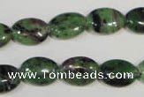 CRZ480 15.5 inches 10*14mm oval ruby zoisite gemstone beads