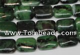 CRZ51 15.5 inches 10*14mm rectangle ruby zoisite gemstone beads