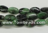 CRZ60 15.5 inches 8*12mm oval ruby zoisite gemstone beads