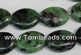 CRZ61 15.5 inches 15*20mm oval ruby zoisite gemstone beads