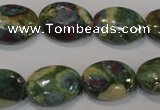 CRZ615 15.5 inches 13*18mm oval New ruby zoisite gemstone beads