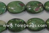 CRZ616 15.5 inches 15*20mm oval New ruby zoisite gemstone beads